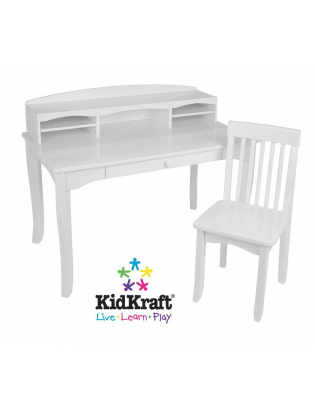 Outstanding Kidkraft Avalon Desk With Hutch And Chair White Ncnpc Chair Design For Home Ncnpcorg