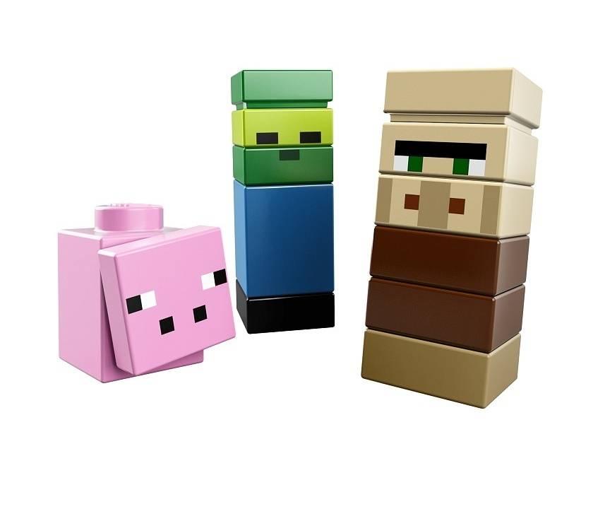 Лего майнкрафт деревня оригинал