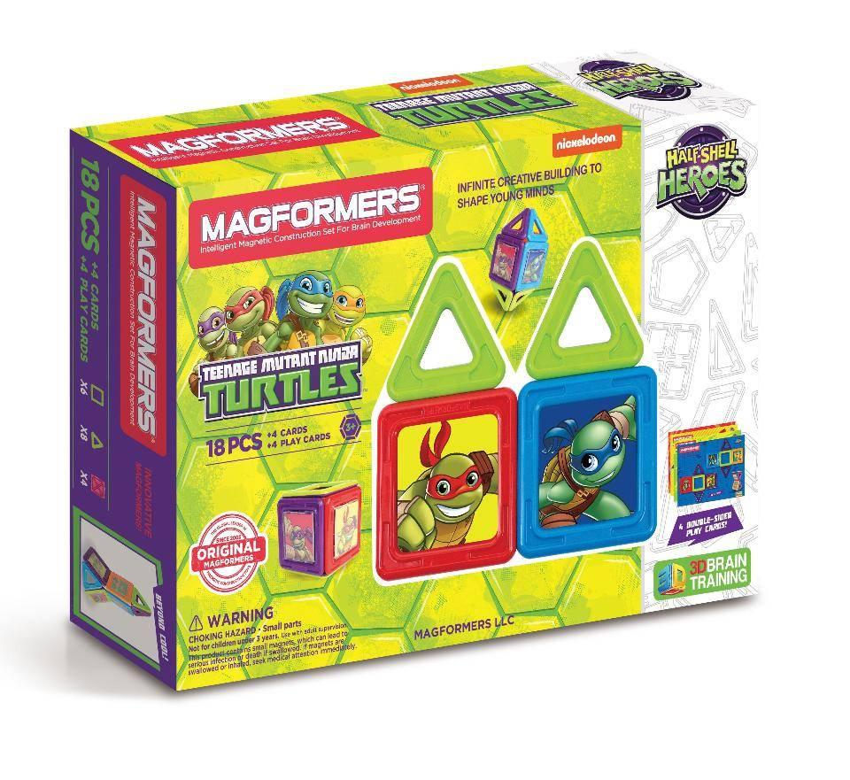 Magformers Teenage Mutant Ninja Turtles Construction Set 18 Pieces