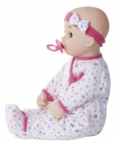 You & Me Sweet Dreams 18 Inch Baby Doll - Caucasian in Floral Print with Hot Pink Trim