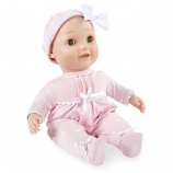 You & Me Baby So Sweet 16 Inch Nursery Doll Blonde with Green Eyes in Pink Sleeper