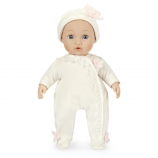 You & Me Baby So Sweet 16 inch Nursery Doll Blonde with Blue Eyes in White Lace Footie