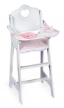 Badger Basket Wooden High Chair with Plate, Bib and Spoon for 18 inch Doll