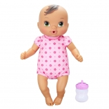 Baby Alive Luv n' Snuggle Baby Doll - Brunette with Pink Bodysuit