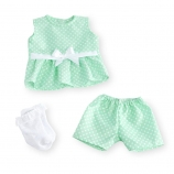 You & Me 16-18 inch Baby Doll Occasion Outfit - Dot Romper