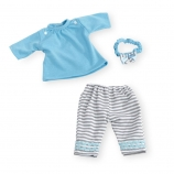You & Me Playtime Outfit for 12-14 Inch Doll-Striped Leggings