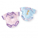 You & Me 12-14 inch Baby Doll 2 Pack Bodysuit Set - Butterfly/Giraffe Set