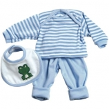 Adora Playtime Baby Doll Outfit - 3 Piece Layette Set - Blue