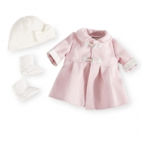 You & Me Baby So Sweet Premium Doll 3 Piece Pink/White Winter Coat Set