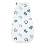 Perlimpinpin Bamboo muslin sleep bag - Animal, 0-6 Months