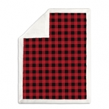 Koala Baby Red and Black Buffalo Plaid Blanket with Sherpa Back