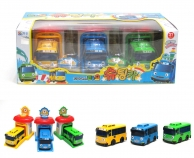 Игровой набор автобус Тайо -Мини -Гараж -РАНИ,ГАНИ,РОГИ,ТАЙО -Little Bus TAYO
