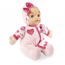 You & Me 10 Inch Pink Soft Cuddly Doll with Heart Applique