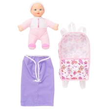 You & Me 10 inch Doll with Backpack - Caucasian - Pink Outfit