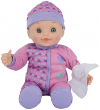 You & Me 12 inch All Better Baby Doll - Blue Eyes with Heart Pattern