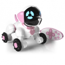 WowWee Chippies Robot Dog with Remote Control Toy - Chippella White and Pink