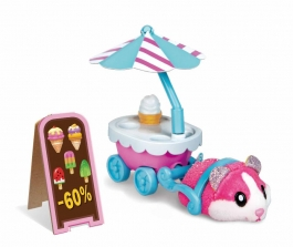 Zuru Hamster in a House Food Frenzy Series 2 Cool Ice Cream Cart Playset (Color/Style May Vary)