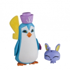 Фигурки из игры Animal Jam Core Friends- Sir Penguin with Pet Bunny