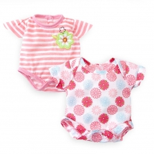 You & Me 12-14 Inch Baby Doll 2 Pack Bodysuit Set-Pink