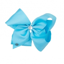 JoJo Siwa Giant Blue Diamond Bow Hair Clip with Rhinestone Center