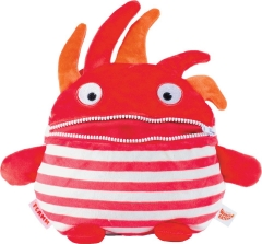 Worry Eaters Large Stuffed Flamm - Red/White