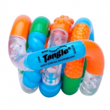 Zuru Tangle Junior Series 1 Classic Fidget Toy - Orange/Blue/Green