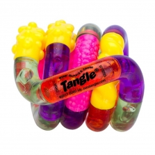 Zuru Tangle Junior Series 1 Classic Fidget Toy - Pink/Yellow/Purple/Green