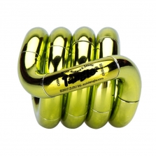 Zuru Tangle Metallic Series Fidget Toy - Yellow/Green