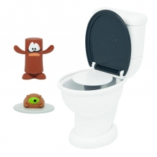 Poopeez -Туалет- Toilet Launcher Playset - 2 Mystery Figures