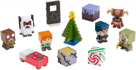 Коллекционный набор - Minecraft Festive Biome Pack Mini Figure 12-Pack