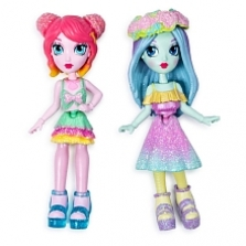 Off The Hook Style BFFs, Brooklyn & Alexis (Spring Dance), 4-inch Small Dolls with Mix and Match Fashions and Accessorie