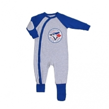 Snugabye Toronto Blue Jays Grey Infant Sleeper 12-18 Months