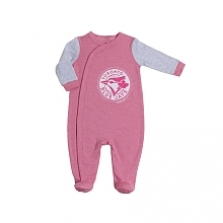 Snugabye Toronto Blue Jays Pink Infant Sleeper 3-6 Months